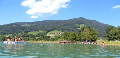 familienfreundlicher Badeplatz am See barrierefrei